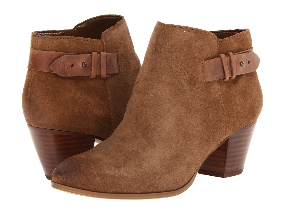 GUESS Veora Medium Brown Suede Womens Zip Boots