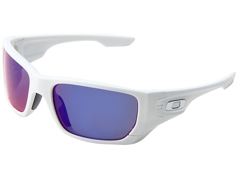 Oakley - Style Switch Polarized (Polished White/Red Iridium Polarized/Black Iridium) Plastic Frame Sport Sunglasses