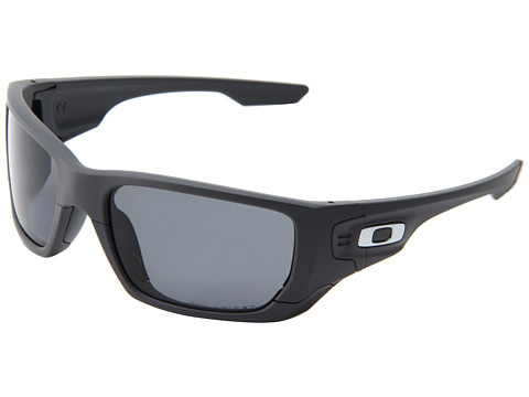 Oakley - Style Switch (Matte Dark Grey/Grey Polarized/Fire Iridium) Plastic Frame Sport Sunglasses