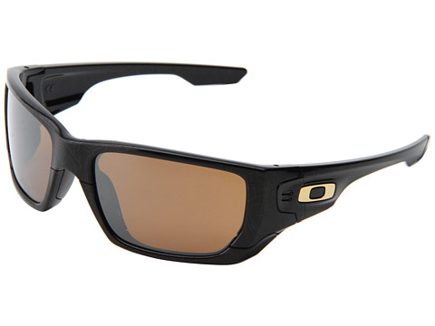 Oakley - Style Switch (Polished Black/Gold Ghosttxt/Tungsten Iridium/Black Iridium) Plastic Frame Sport Sunglasses