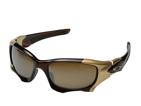 Oakley - Pit Boss II (Polished Rootbeer/Tungsten Iridium Polarized) Sport Sunglasses