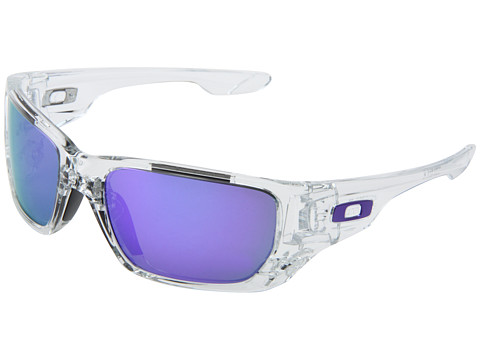 Oakley - Style Switch (Polished Clear/Violet Iridium/Black Iridium) Plastic Frame Sport Sunglasses