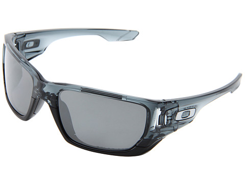 Oakley - Style Switch (Crystal Black/Black Iridium Polarized/Chrome Iridium) Plastic Frame Sport Sunglasses
