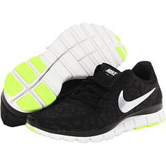 Nike Free 5.0 V4 (Black/Anthracite/Volt/Metallic Silver) Women's Shoes