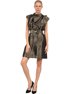 SALE! $454.99 - Save $302 on Vivienne Westwood Anglomania Card Dress (Gold) Apparel - 39.90% OFF $757.00