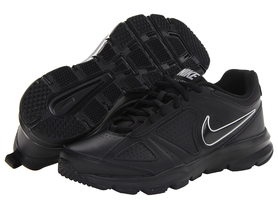 Nike - T-Lite XI (Black/Black/Metallic Silver) Men's Cross Training Shoes