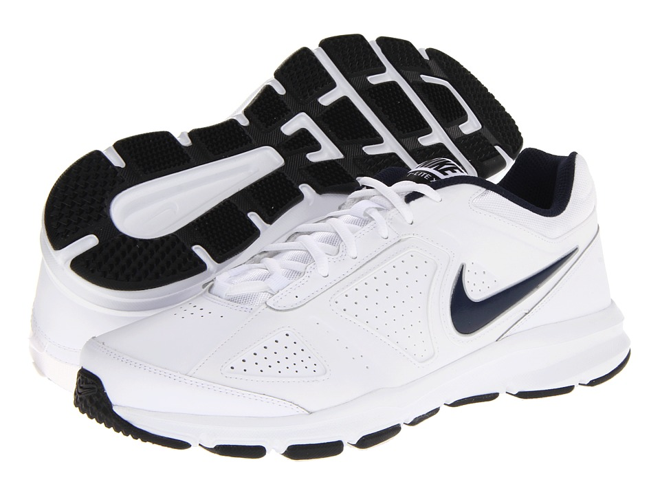 Nike - T-Lite XI (White/Black/Obsidian) Men's Cross Training Shoes