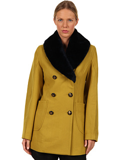 SALE! $551.99 - Save $451 on Vivienne Westwood Anglomania Soma Peacoat (Moss Green) Apparel - 44.97% OFF $1003.00