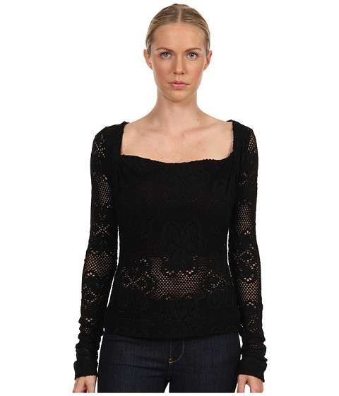 Vivienne Westwood Anglomania - LS Liz Top (Black) Women's Long Sleeve Pullover