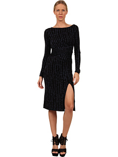 SALE! $289.99 - Save $237 on Vivienne Westwood Anglomania L S Sihu Dress (Black Navy Barbwire) Apparel - 44.97% OFF $527.00