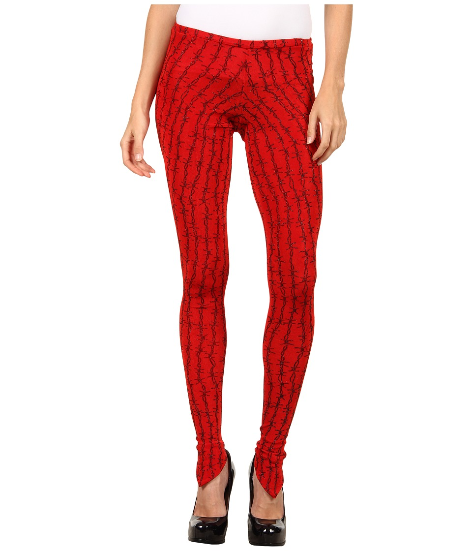 Vivienne Westwood Anglomania - Witches Legging (Red/Black Barbwire) Women