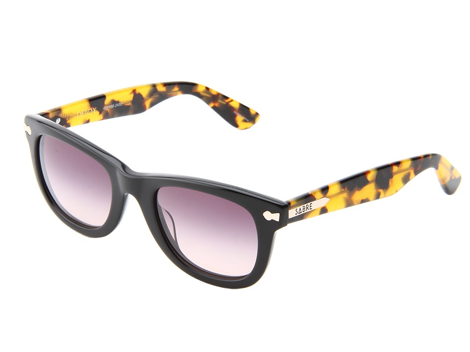 Sabre Vision - Detox (Black/Cam Tort Arms) Plastic Frame Fashion Sunglasses