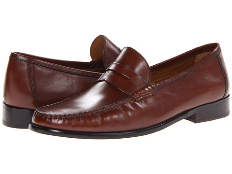 Florsheim - Brookfield Penny (Cognac Calf) Men's Lace Up Moc Toe Shoes