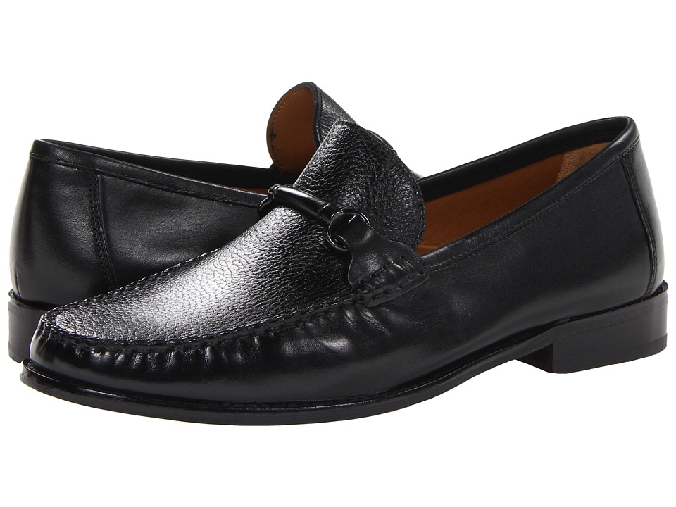 Florsheim - Brookfield Slip-On Bit (Black Calf with Black Deer) Men's Lace Up Moc Toe Shoes
