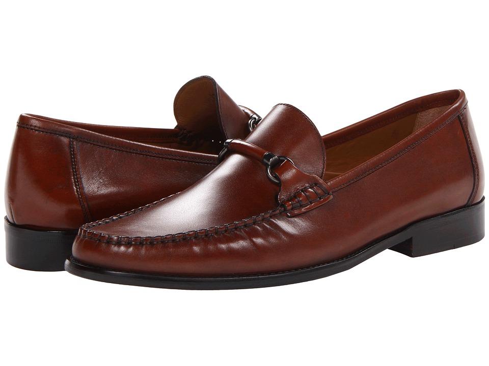 Florsheim - Brookfield Slip-On Bit (Cognac Calf) Men's Lace Up Moc Toe Shoes