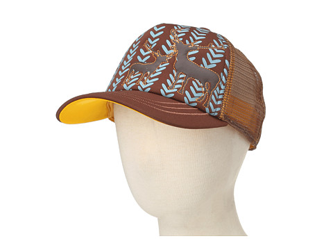 San Diego Hat Company Kids - CTK3398 Deer Trucker Hat (Little Kids) (Camel) Caps