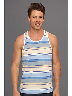 SALE! $11.99 - Save $27 on Original Penguin Stripe Tank (Egret) Apparel - 69.26% OFF $39.00