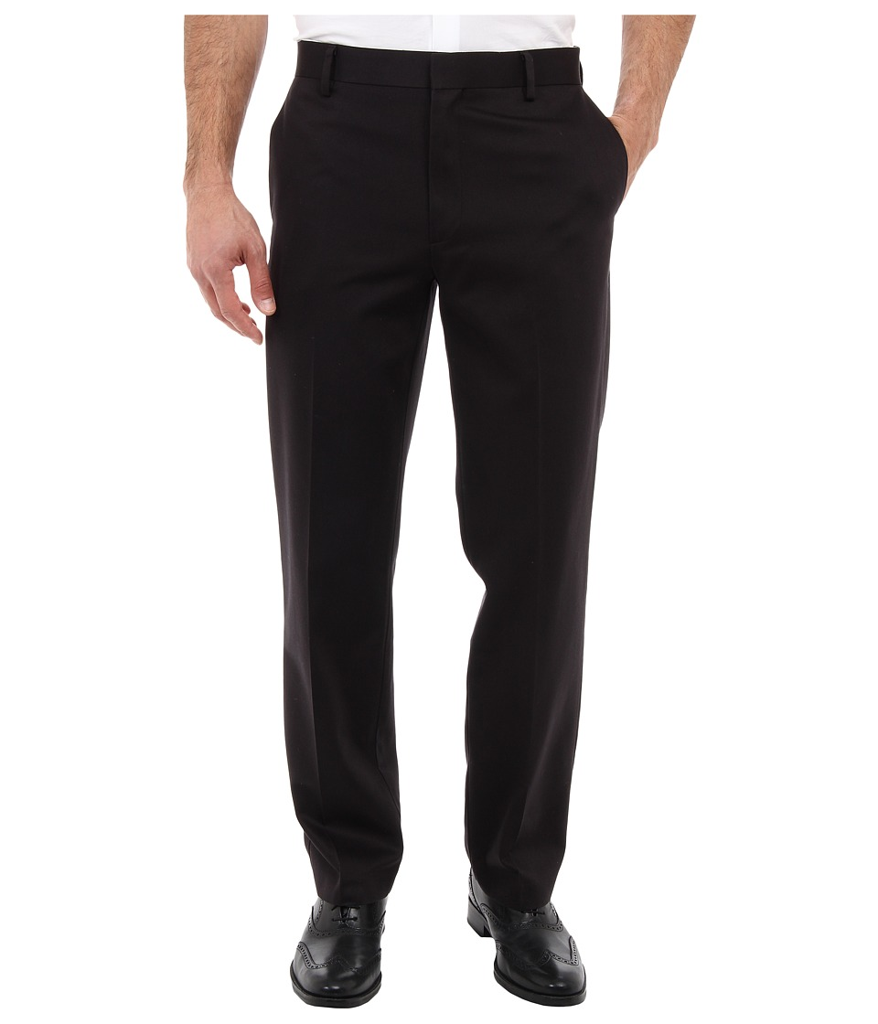 Dockers Men's - Never-Iron Essential Khaki D2 Straight Fit Flat Front (Black) Men's Casual Pants