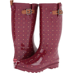 Chooka Classic Dot Rain Boot (Red) Footwear