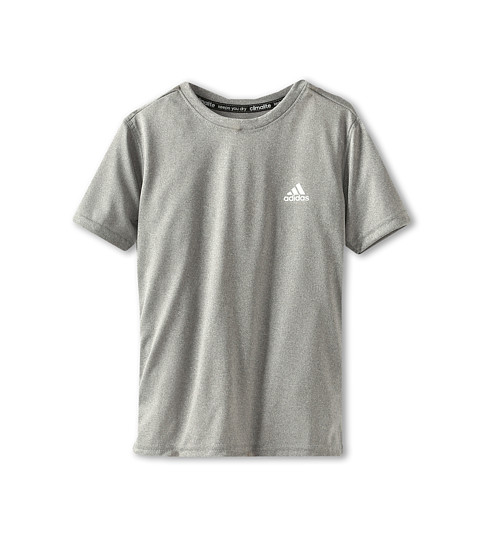 adidas Kids - Climalite S/S Tee (Little Kids/Big Kids) (Medium Grey Heather) Boy