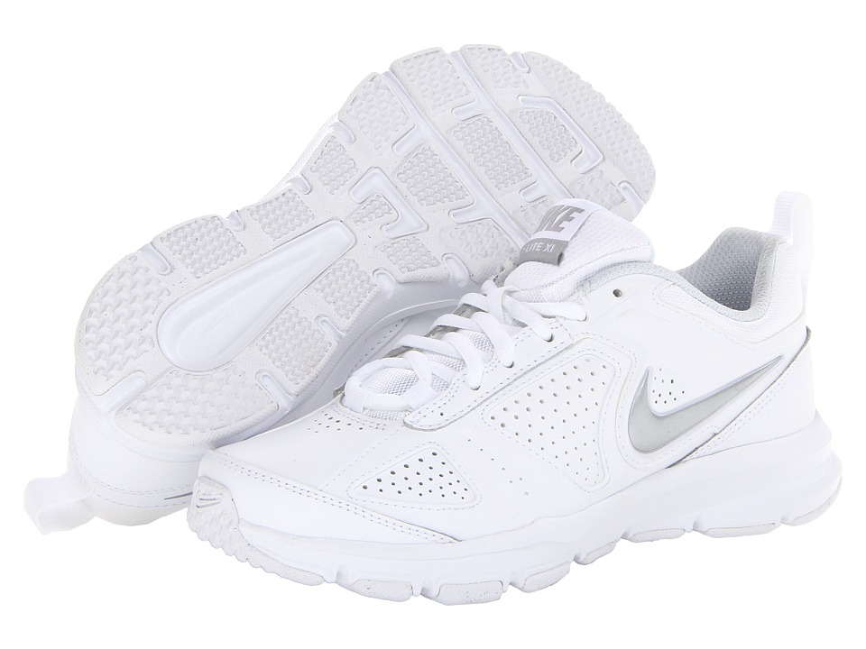 Nike - T-Lite XI (White/Pure Platinum/Black/Metallic Silver) Women's Cross Training Shoes