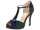Isola - Catalina (Blue Green Combo Chrome Free Suede/Patent) - Footwear