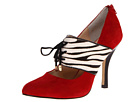 Isola - Isabel (Fire Red Chrome Free Suede/Zebra Calf Hair/Patent) - Footwear