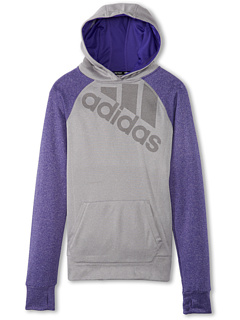 SALE! $16.99 - Save $28 on adidas Kids Ultimate Pullover Performance Logo (Little Kids Big Kids) (Medium Grey Heather Blast Purple) Apparel - 62.24% OFF $45.00