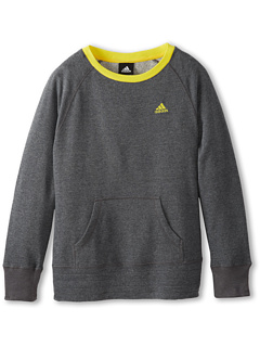 SALE! $14.99 - Save $15 on adidas Kids Long Sleeve Crew (Little Kids Big Kids) (Dark Grey Heather) Apparel - 50.03% OFF $30.00