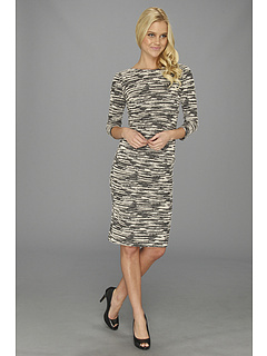 SALE! $134.99 - Save $160 on Nicole Miller Christina L S Textured Dress (Black White) Apparel - 54.24% OFF $295.00