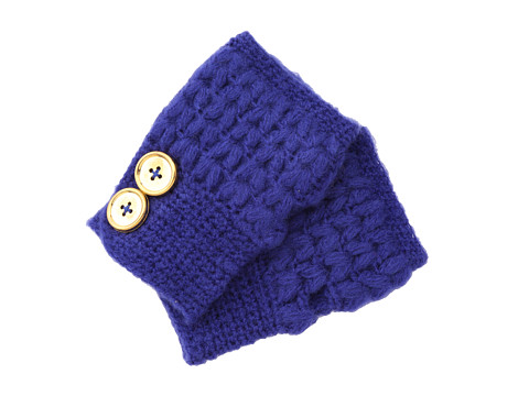 San Diego Hat Company - KNG3132 Knit Button Fingerless Gloves (Sapphire) Extreme Cold Weather Gloves