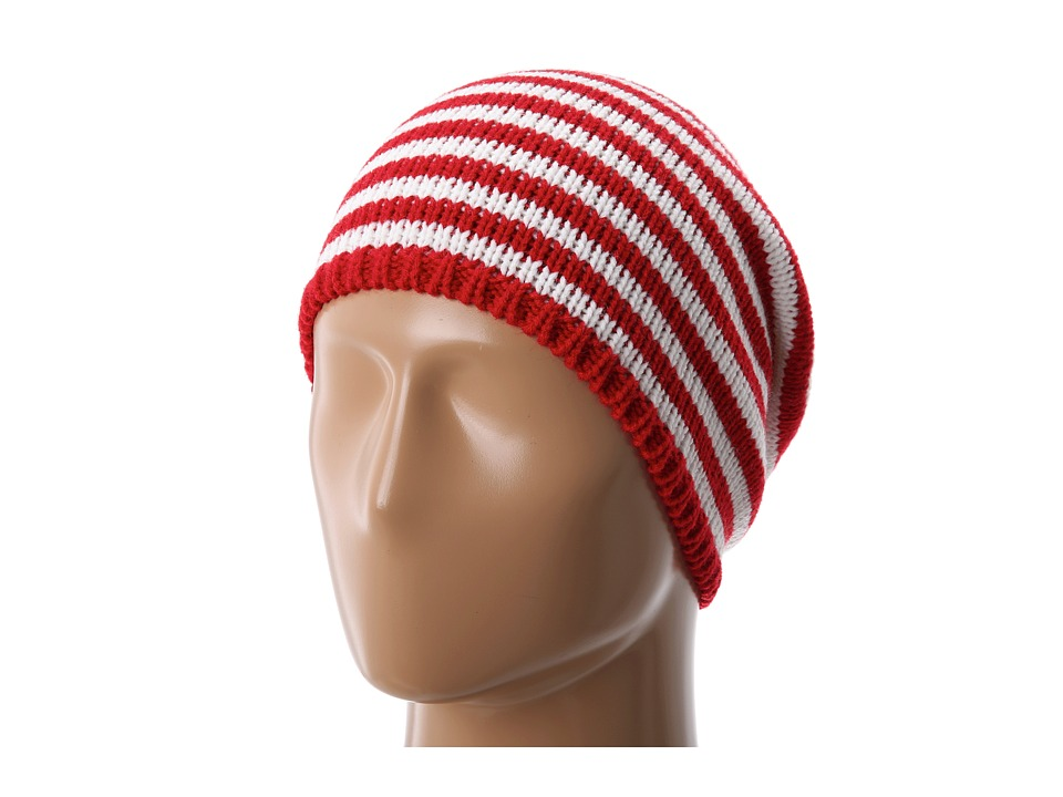 San Diego Hat Company - KNH3232 Striped Slouchy Beanie (Red/White Stripe) Beanies