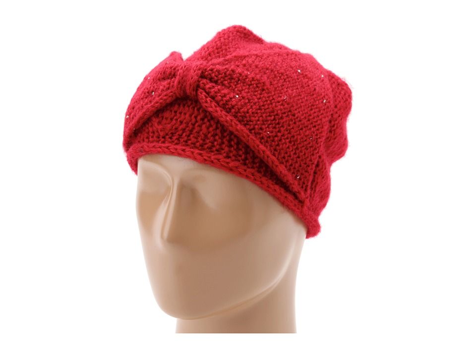 San Diego Hat Company - KNH3236 Bead Bow Beanie (Red) Beanies