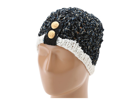 San Diego Hat Company - KNH3226 Lurex Yarn Button Beanie (Black) Beanies