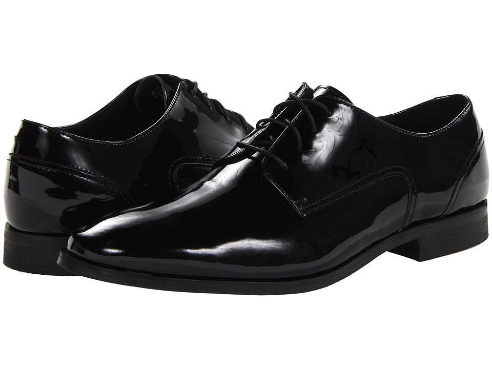 Florsheim - Jet Plain Toe Oxford (Black Patent) Men's Plain Toe Shoes