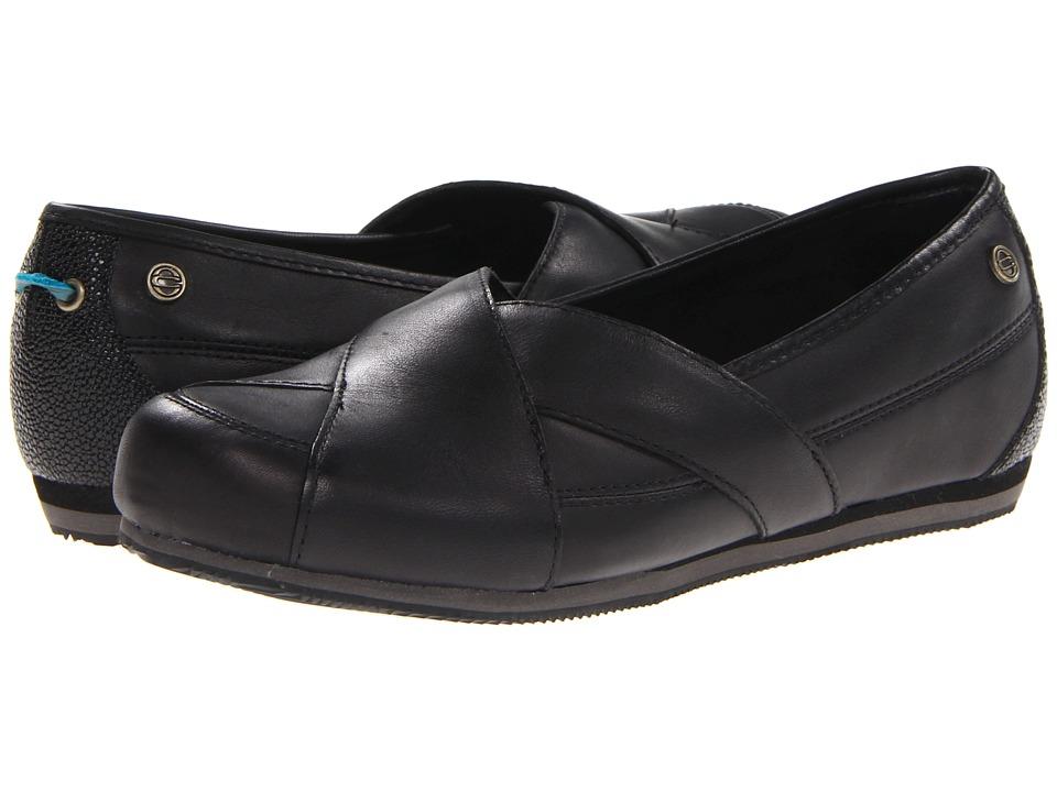 MOZO Sport Flat (Black Leather) Women