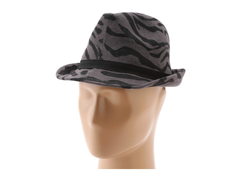 San Diego Hat Company - WFH7880 Animal Felt Fedora (Black/Grey Print) Traditional Hats