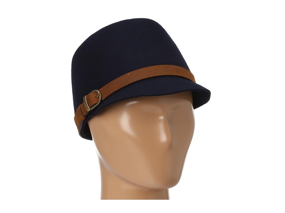 San Diego Hat Company - WFH7910 Felt Buckle Cap (Navy) Caps