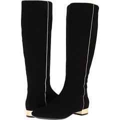 Isaac Mizrahi New York Sandra (Black Suede Gold) Footwear