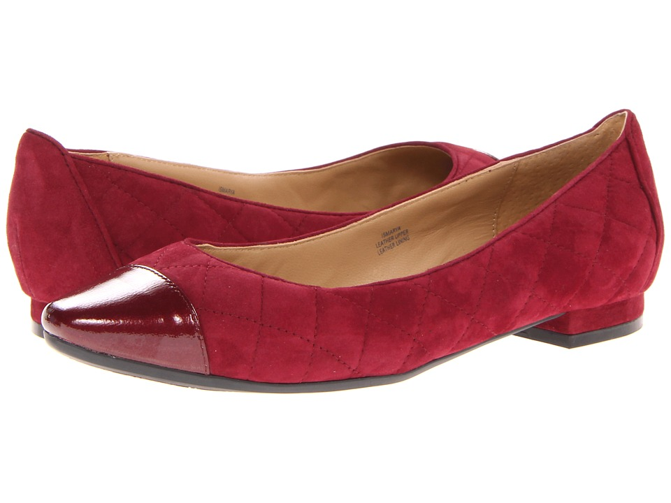 Isaac Mizrahi New York - Marya (Burgundy Suede/Burgundy Patent) Women's 1-2 inch heel Shoes