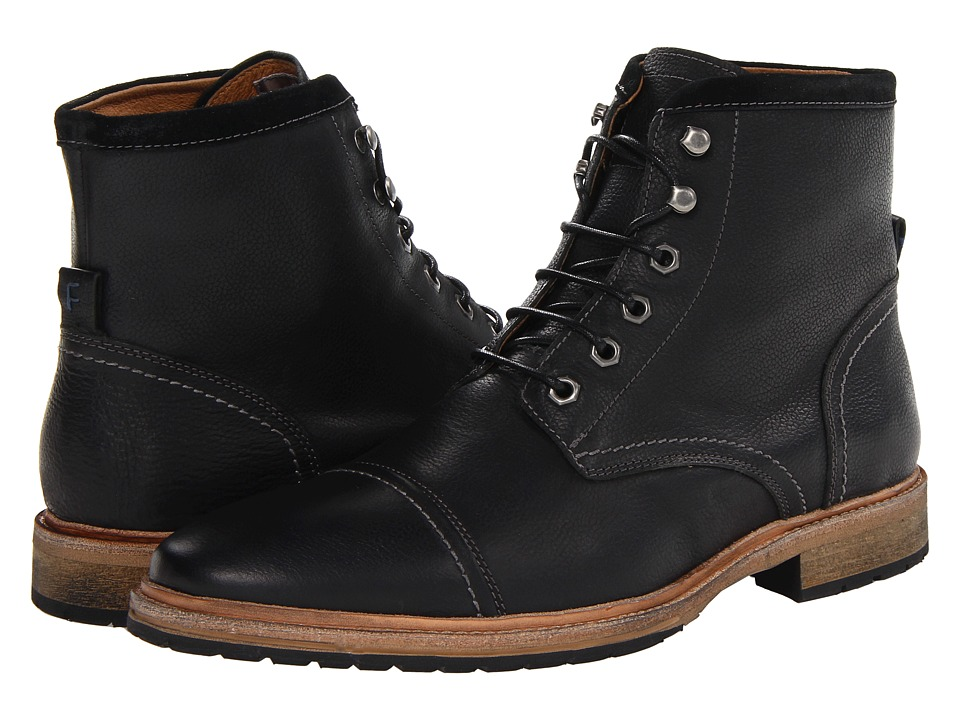Florsheim - Indie Cap Toe Boot (Black) Men's Lace-up Boots