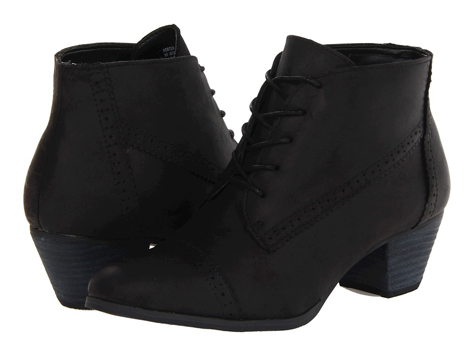 Bass - Porter (Black Leather) Women's Shoes