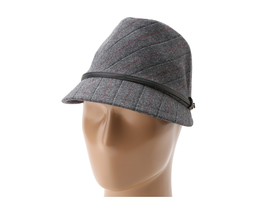 San Diego Hat Company - ECO1066 Up-Cycled Belted Fedora Cap (Grey) Caps