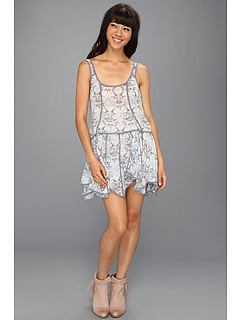SALE! $49.99 - Save $38 on Free People Check Chiffon Print Slip (Sky Combo) Apparel - 43.19% OFF $88.00