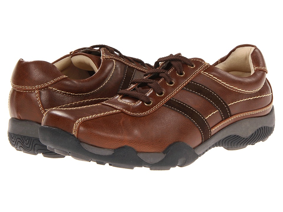 Deer Stags Pager Mens Lace up casual Shoes (Brown)