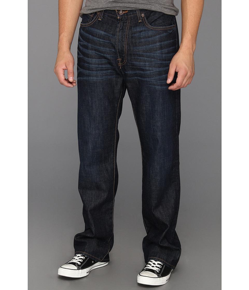 Lucky Brand 181 Relaxed Straight 32.5 in Dark Dickson Mens Jeans (Black)