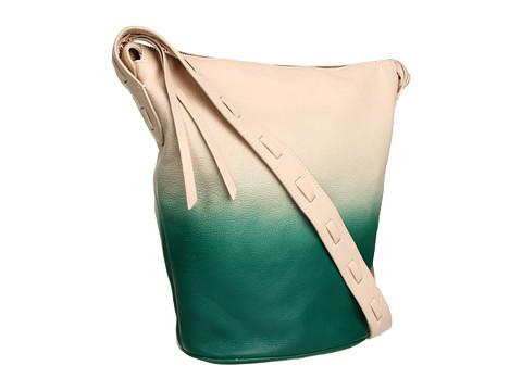 Kelsi Dagger - Avery Long Shoulder Bucket (Eggshell/Turquoise) Shoulder Handbags