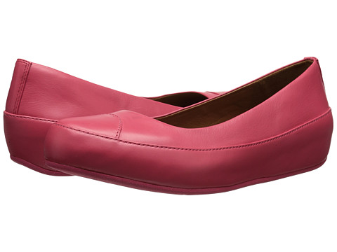 FitFlop - Due Leather (Punch Pink) Women's Slip on Shoes