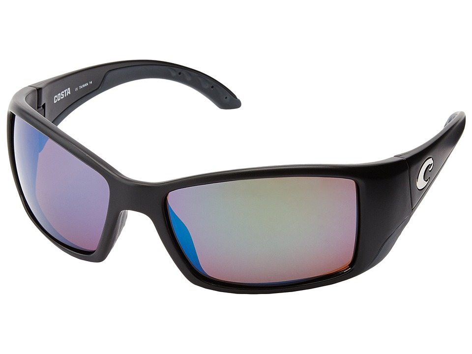 Costa - Blackfin 580 Mirror Glass (Black/Green Mirror 580 Glass Lens) Sport Sunglasses