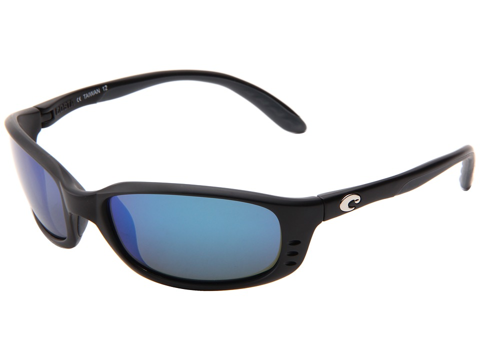 Costa - Brine 580 Mirror Glass (Black/Blue Mirror 580 Glass Lens) Sport Sunglasses